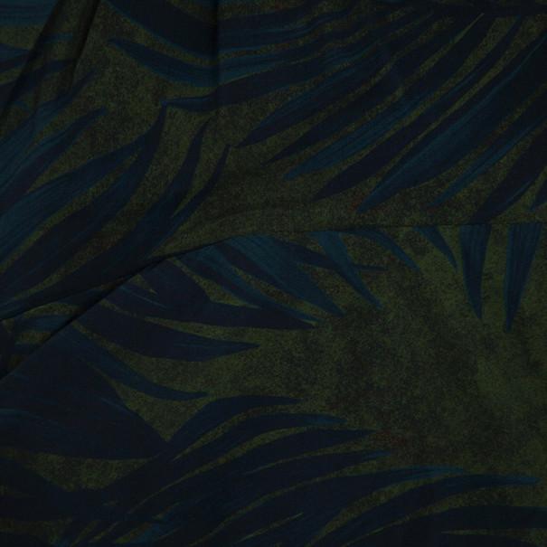 Lanvin Palm Leaf Print Cocktail Dress S