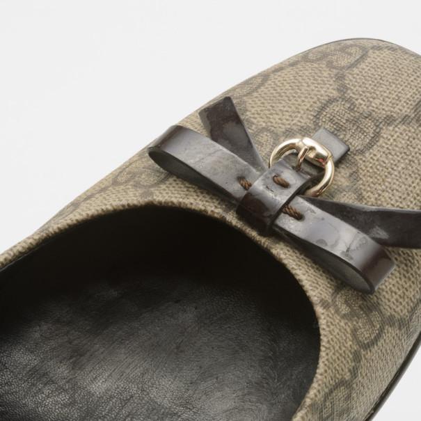 Gucci Guccissima Canvas Bow Pumps Size 39