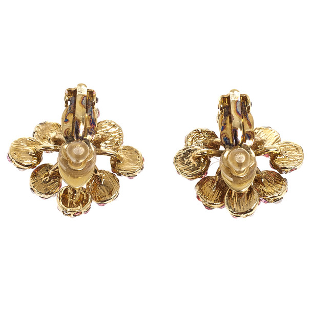 Louis Vuitton 1001 Nuits Crystal Clip On Earrings