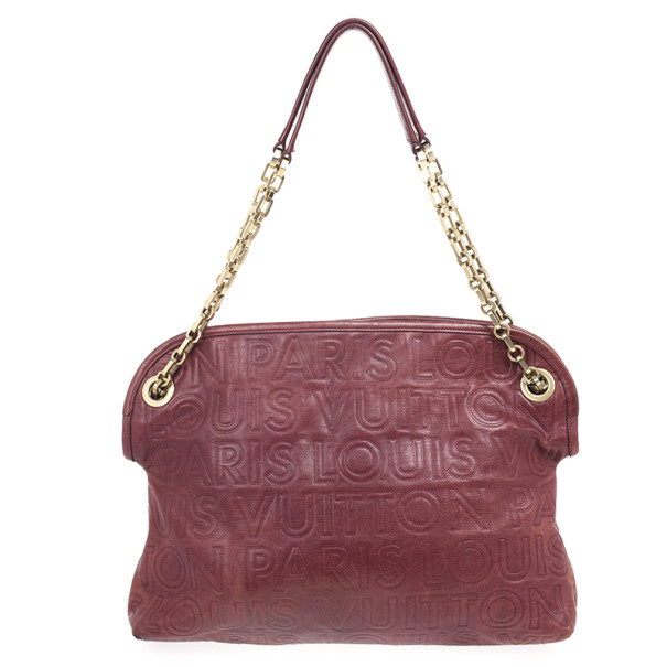 Louis Vuitton Burgundy Paris Souple Whisper GM Tote
