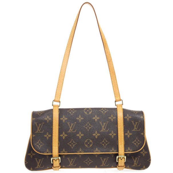 Louis Vuitton Pochette Marelle Brown Monogram Canvas Waits Bag