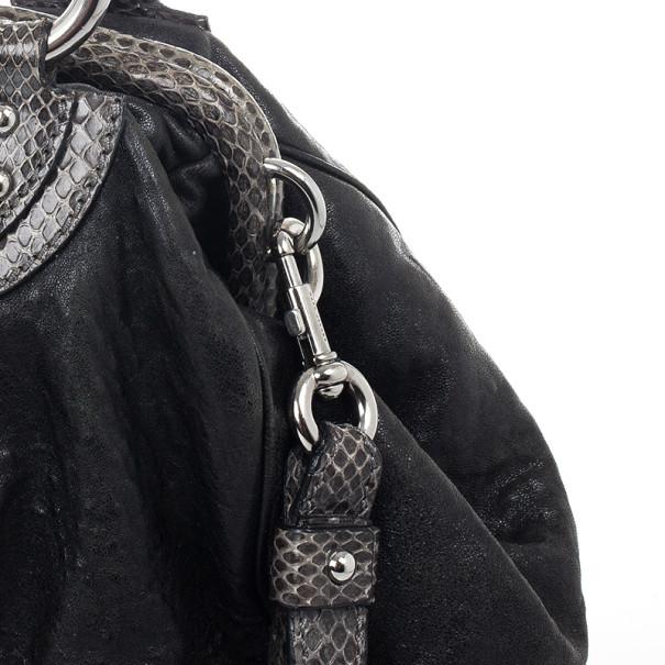 Marc Jacobs Black and Grey Python Trim Stam