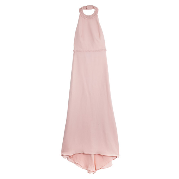 Valentino Silk Halter Neck Maxi Dress M