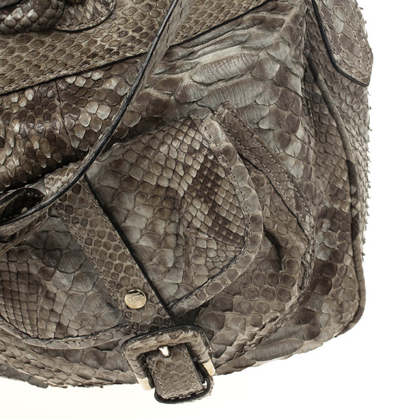Burberry Bromley Python Drawstring Shoulder Bag