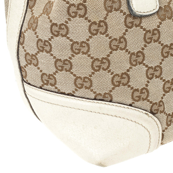 Gucci Beige Monogram Treasure Boston Bag