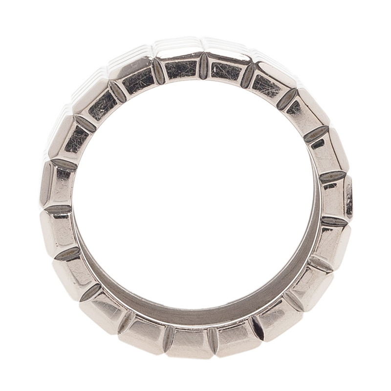 Chopard Ice Cube White Gold Wide Band Ring Size 55