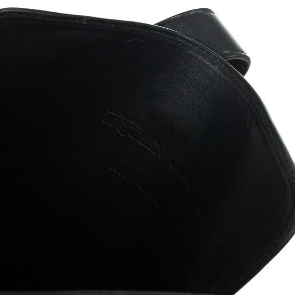 Alexander McQueen Black Leather Skull Embossed iPad Case