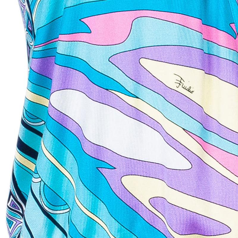 Emilio Pucci Mutlicolor Halterneck Top S