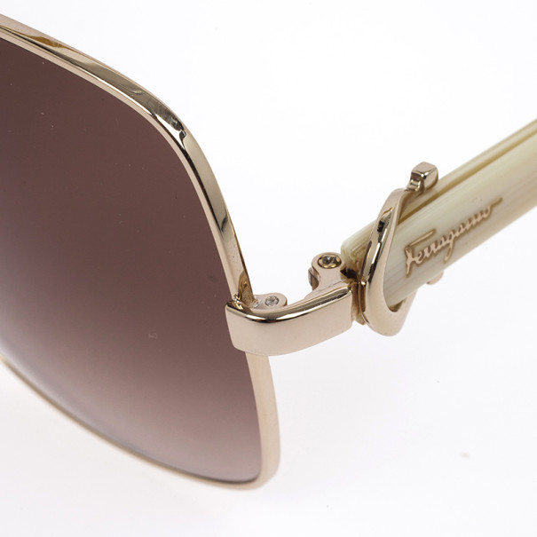 Salvatore Ferragamo Gold Unisex Sunglasses SF110S-59-16