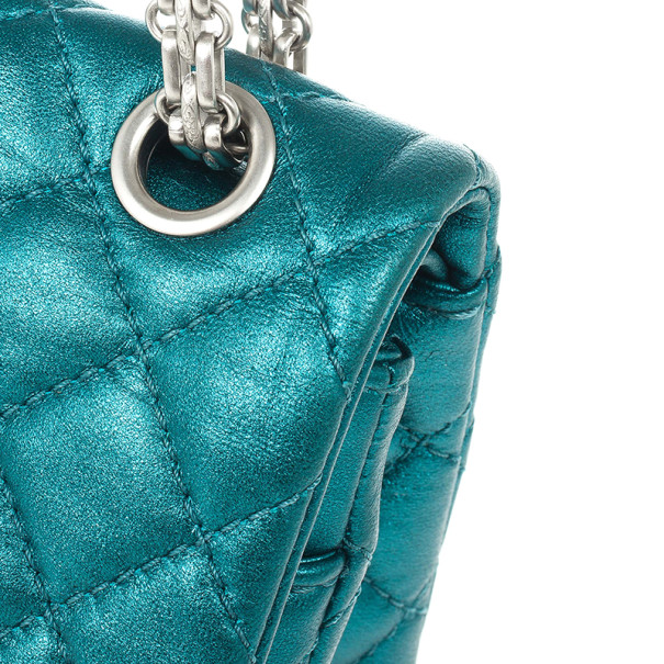 Chanel Metallic Turquoise 2.55 Reissue Quilted 226 Flap Bag