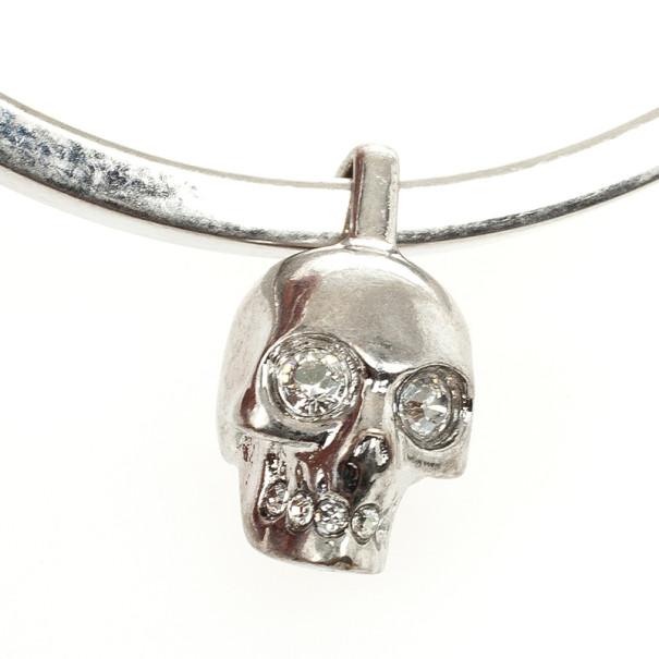 Alexander McQueen Crystal Skull-Charm Bangle