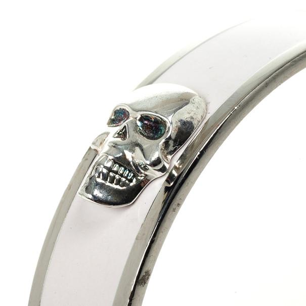 Alexander McQueen Large 3D Skull Enamel Bracelet