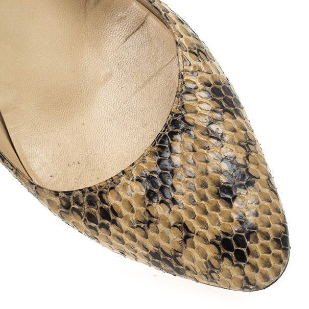 Jimmy Choo Snakeskin Leather Pumps Size 38.5