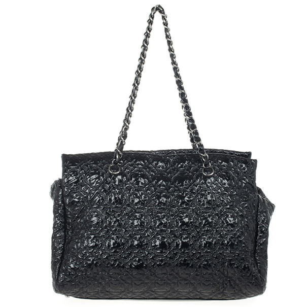Chanel Black Patent Vinyl Rock in Moscow Classic Tote