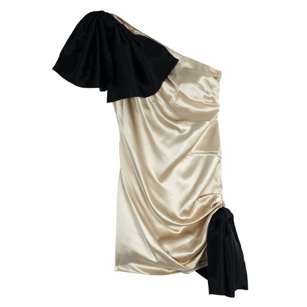 D and G Bow Detailed Satin Dress M