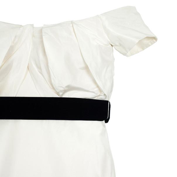 Vera Wang Off Shoulder Silk Wedding Dress L