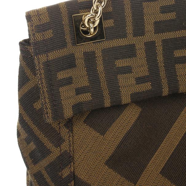 Fendi Maxi Borsa Zucca Baguette Shoulder Bag