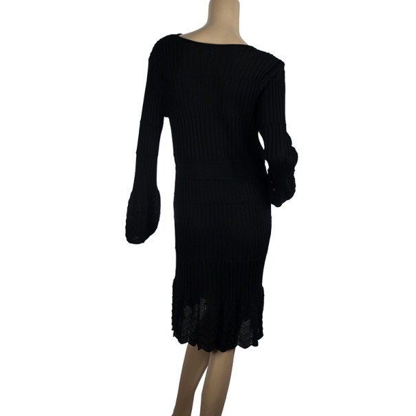 M Missoni Black Knit Dress XXL