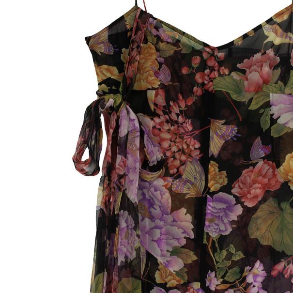 Dolce and Gabbana Chiffon Floral Maxi Dress M