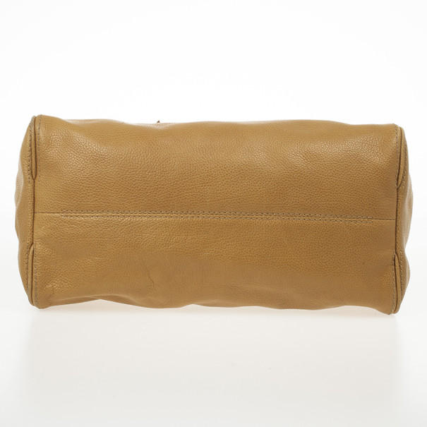 Carolina Herrera Beige Adagio Leather Bag