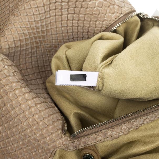 Jimmy Choo Beige Slate Python Shoulder Bag