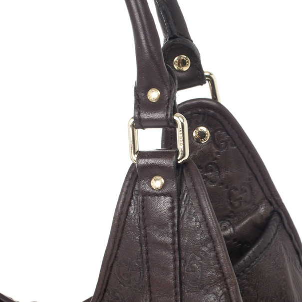 Gucci Brown Guccissima Bardot Bag