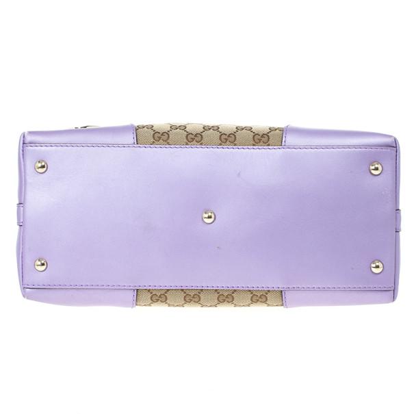 Gucci Monogram Lavender Trim Lovely Hobo