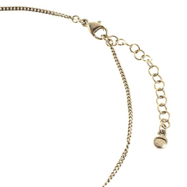 Chanel CC White Pendant Necklace