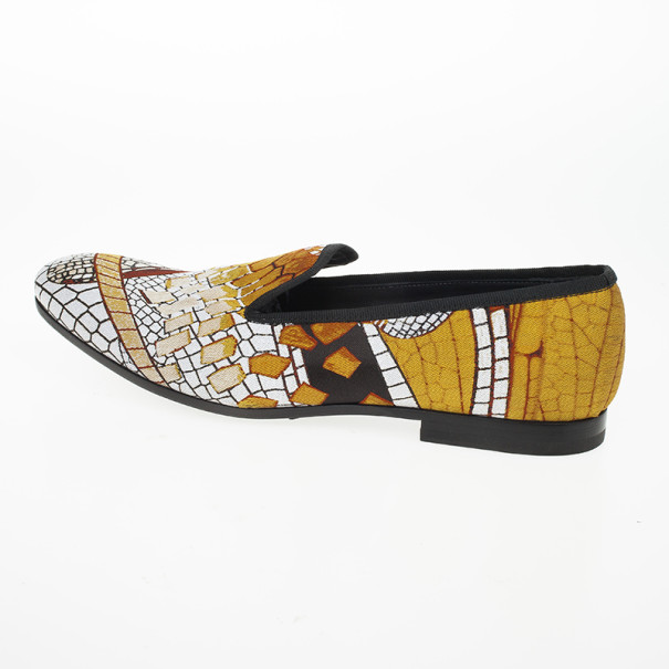 Alexander McQueen Jaquard Pattern Loafers Size 42