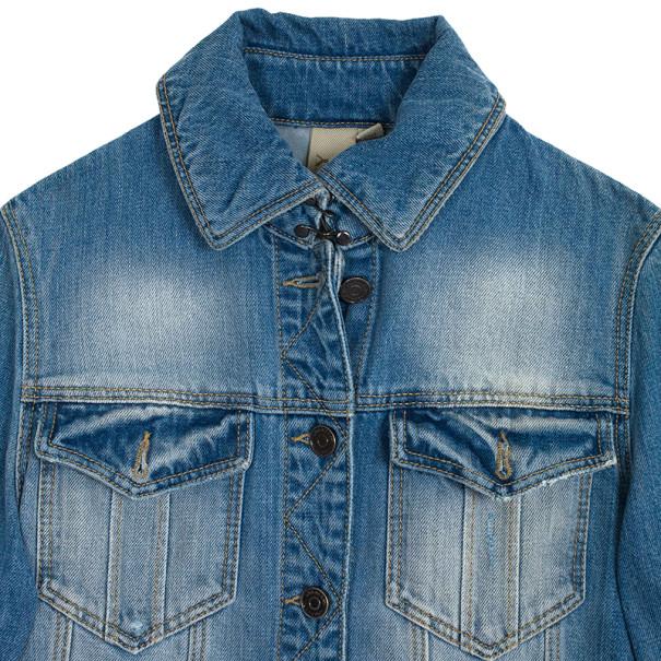 Burberry Brit Fitted Stretch Denim Jacket XS