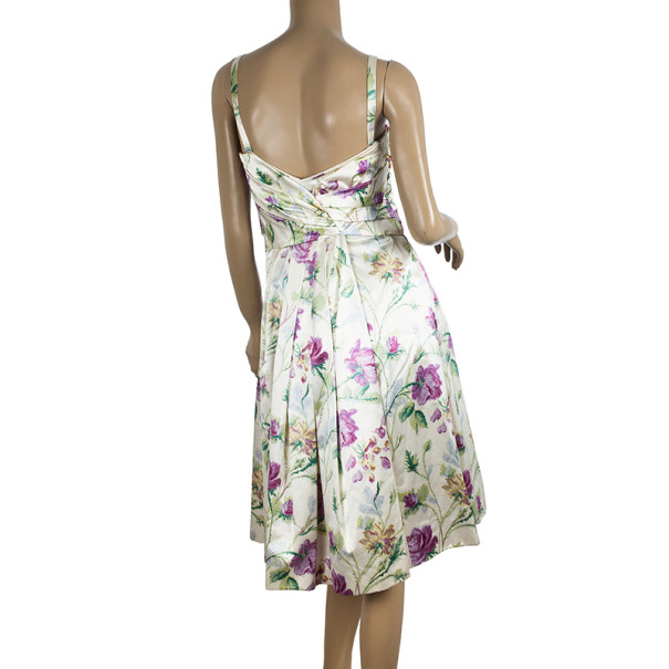 Dior Haute Couture Floral Print Dress S