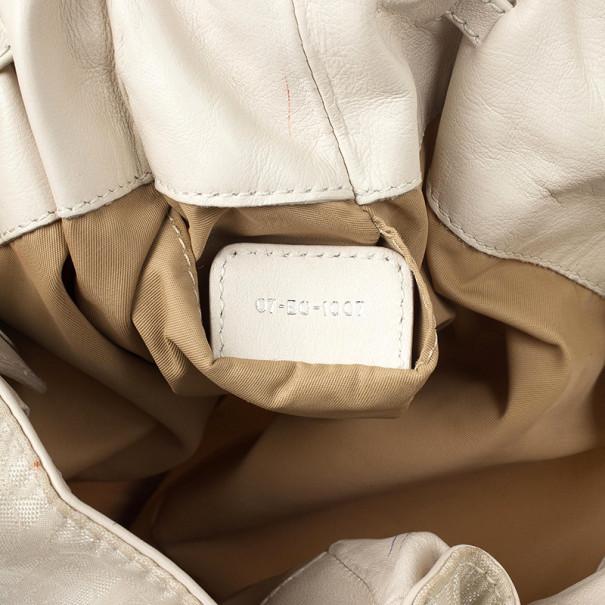 Dior Ivory Logo Hobo