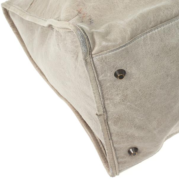 Balenciaga Grey Classic Silver Work Bag