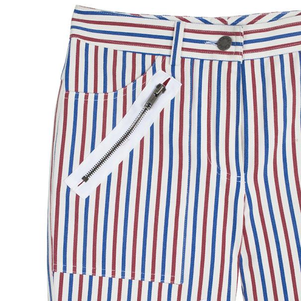 Chloe Striped Zipper Pants S