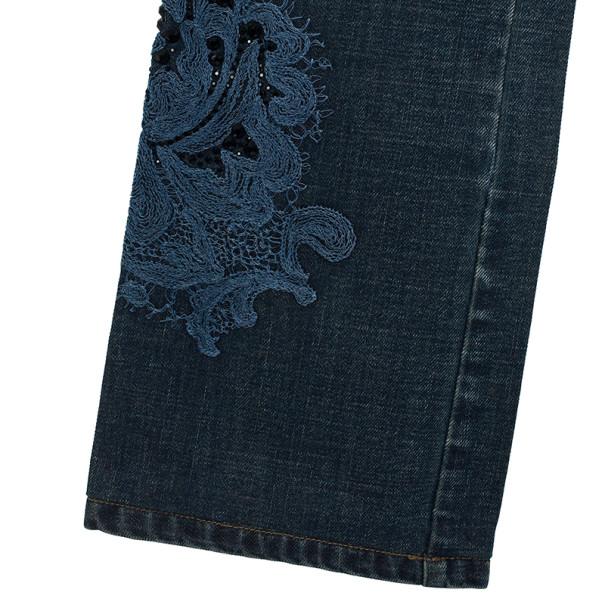 Fendi Embroidered Denim Jeans S