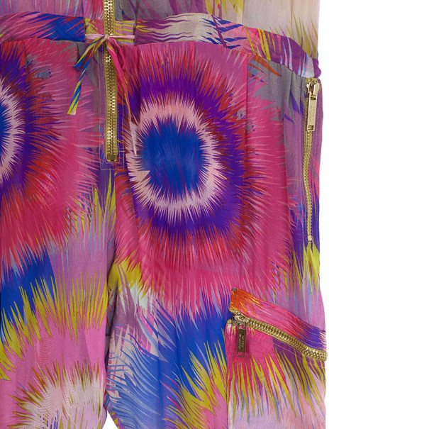 Matthew Williamson Bright Escape Silk Jumpsuit L