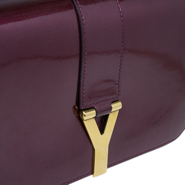 Saint Laurent Paris Purple Patent Leather Classic Y Crossbody