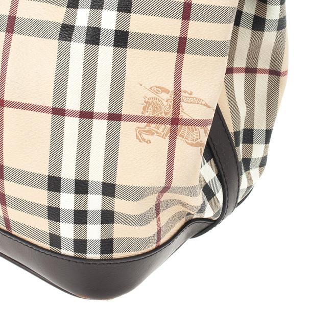 Burberry Medium Haymarket Check Tote Bag