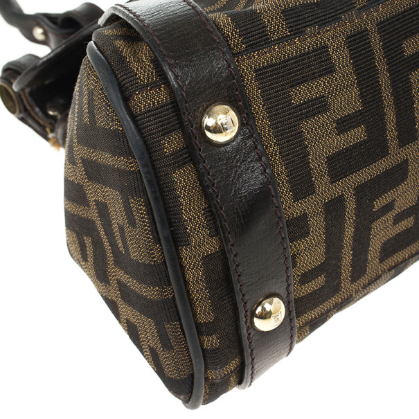 Fendi Zucca Magic Small Satchel Handbag