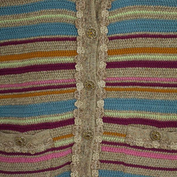 Chanel Resort 2011 Striped Crop Jacket M