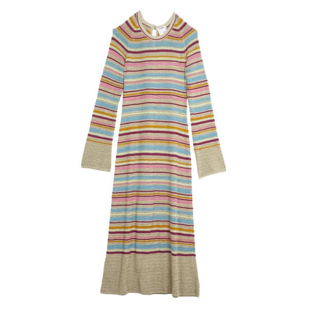 Chanel Resort 2011 Striped Long Sleeve Dress M