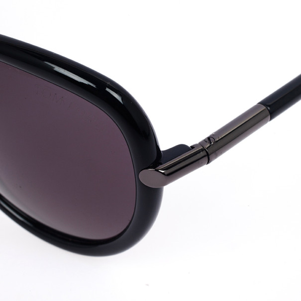Tom Ford Black Sabrina Round Womens Sunglasses