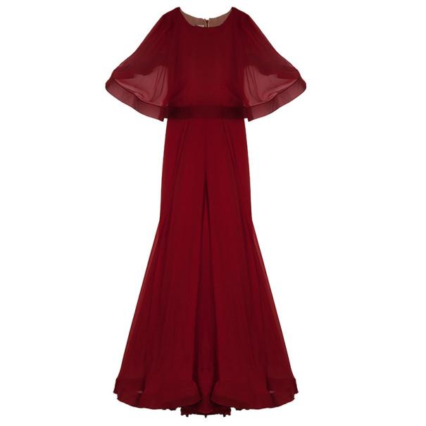 Valentino Cape Red Gown M