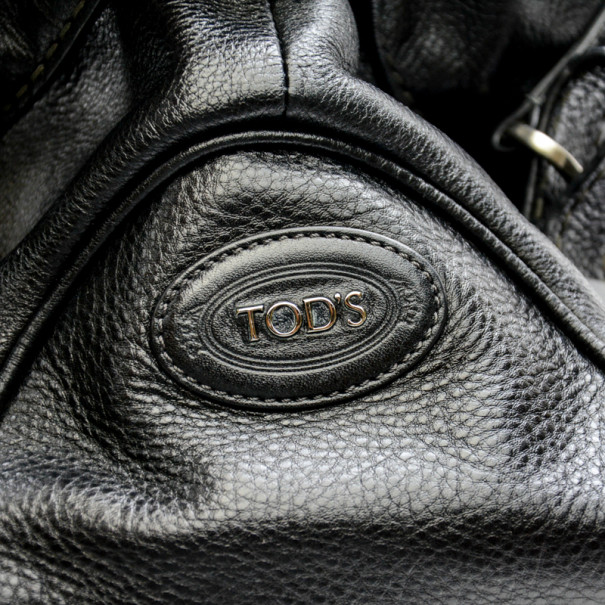 Tod's Classic Black Leather Tote