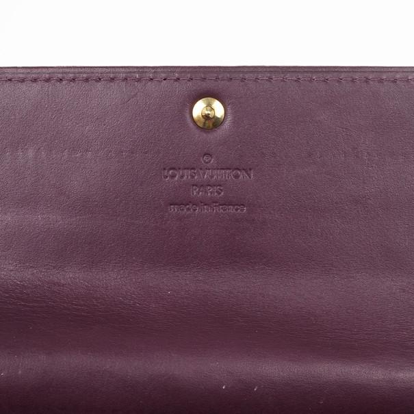 Louis Vuitton Purple Monogram Vernis Sarah Wallet