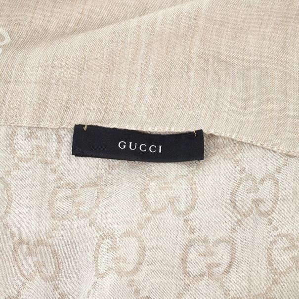 Gucci Beige Guccissima Stole