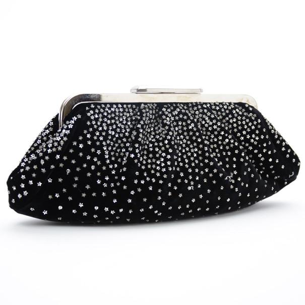 Fendi Velvet Star-Studded Evening Clutch