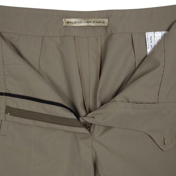 Balenciaga Khaki Cotton Pants XS
