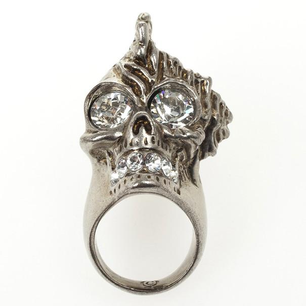 Alexander McQueen Punk Shell Skull Ring Size 51