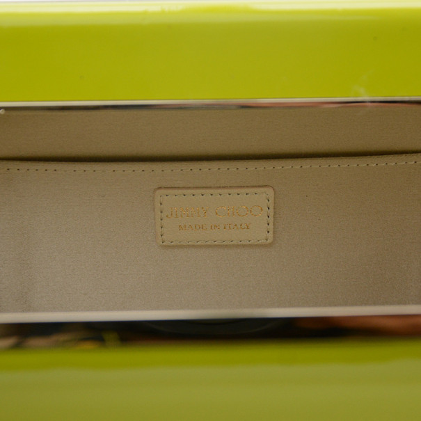 Jimmy Choo Cayla Lime Green Patent Leather Clutch